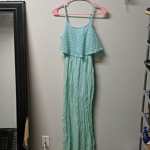 Flowy mint green dress